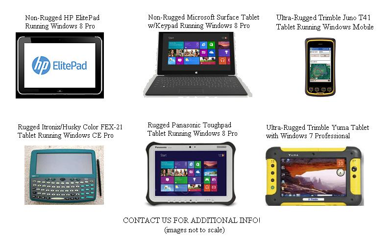 Photo of ultra-rugged handheld pc's tablet pc's for forestry natural resources environment